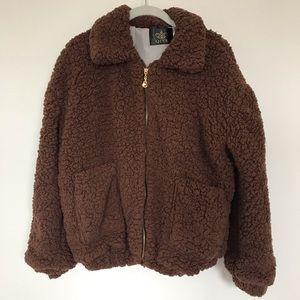 Jackets & Blazers - Dark Brown Teddybear Coat
